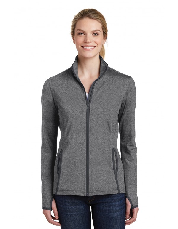 Sport-Tek® Ladies Sport-Wick® Stretch Contrast Full-Zip Jacket
