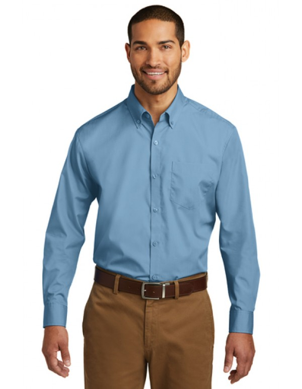 Port Authority® Long Sleeve Carefree Poplin Shirt