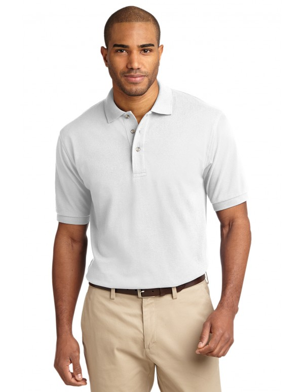Port Authority® Heavyweight Cotton Pique Polo